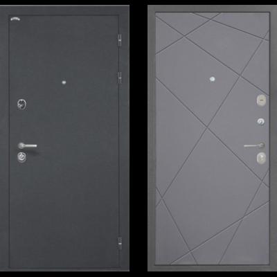 Входная Дверь Интекрон Греция Лучи-М Софт графит