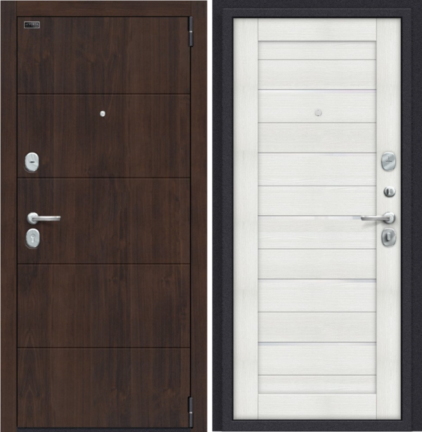 Входная дверь BRAVO Porta S 4.П22 (Прайм) Темная Вишня/Bianco Veralinga