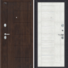 Входная дверь BRAVO Porta S 9.П29 (Модерн) Темная Вишня/Bianco Veralinga
