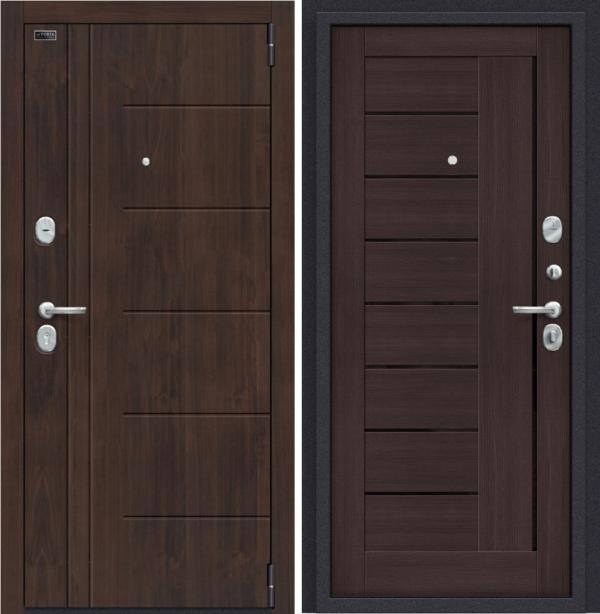 Входная дверь BRAVO Porta S 9.П29 (Модерн) Темная Вишня/Wenge Veralinga