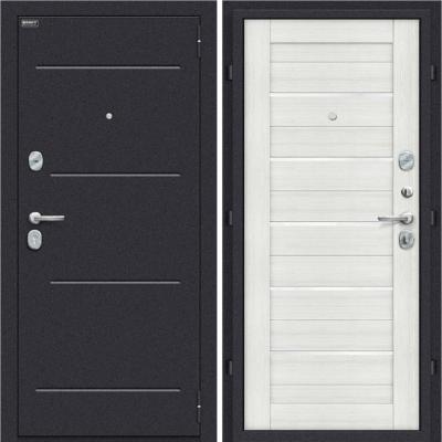 Входная дверь BRAVO Оптим Техно Bianco Veralinga/White Waltz