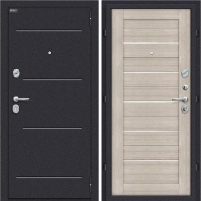 Входная дверь BRAVO Оптим Техно Cappuccino Veralinga/White Pearl