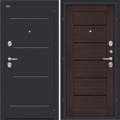 Входная дверь BRAVO Оптим Техно Wenge Veralinga/Black Star