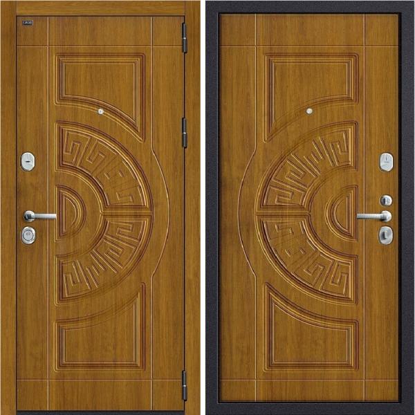 Входная дверь BRAVO GROFF P3-302 П-4 Золотой Дуб