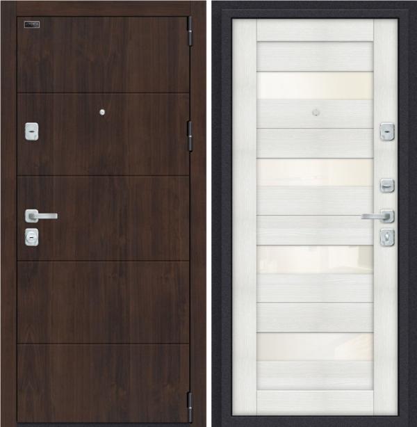 Входная дверь BRAVO Porta M 4.П23 Almon 28/Bianco Veralinga