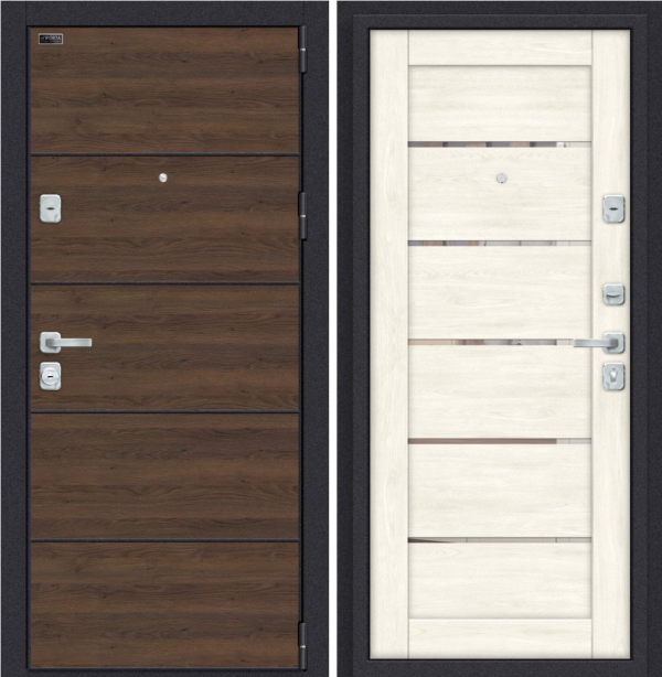 Входная дверь BRAVO Porta M П50.Л22 Tobacco Greatwood/White Softwood