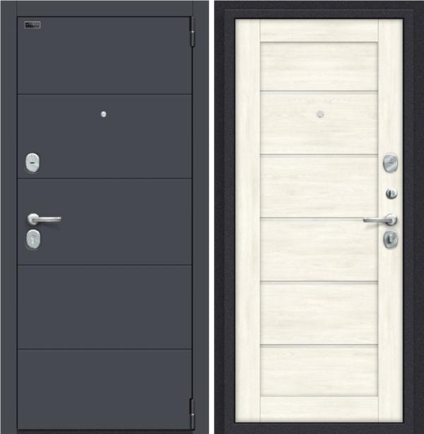 Входная дверь BRAVO Porta S 4.Л22 Graphite Pro/Nordic Oak