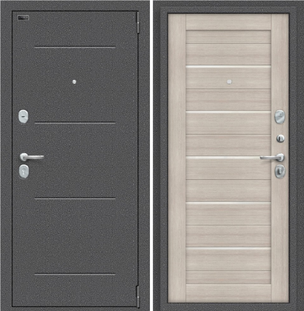 Входная дверь BRAVO Porta S 104.П22 Cappuccino Veralinga/White Pearl