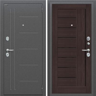 Входная дверь BRAVO Оптим Проф Wenge Veralinga/Black Star