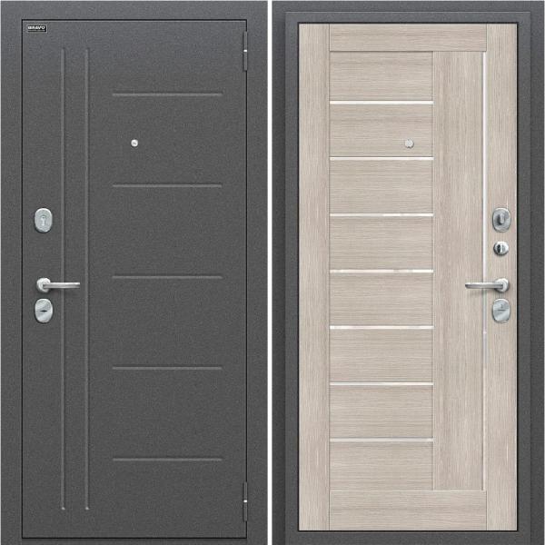 Входная дверь BRAVO Оптим Проф Cappuccino Veralinga/White Pearl