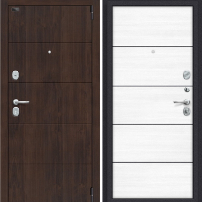Входная дверь BRAVO Porta S 4.П50 Almon 28/Snow Veralinga