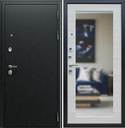 Входная дверь АСД Next 1 с зеркалом «Акация светлая поперечная»