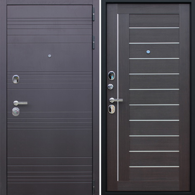 Входная дверь АСД Дуэт «Орех рифленый»