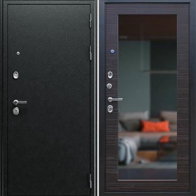 Входная дверь АСД Next 1 с зеркалом «Венге поперечный»
