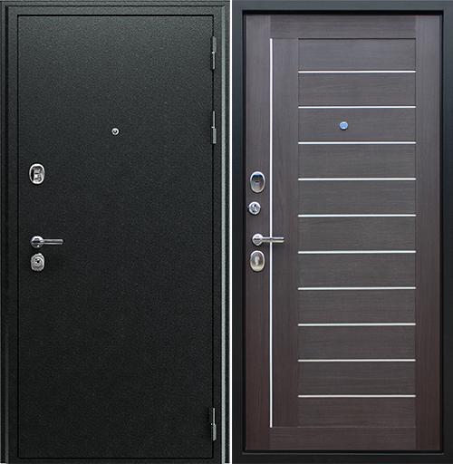Входная дверь АСД Соло (орех рифленый)