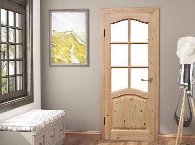 Двери межкомнатные. Массив сосны